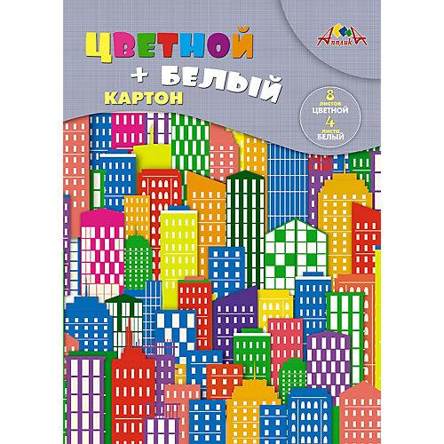 """Набор цветного и белого картона Апплика """"Цветные дома"""", А4, 12 листов от АппликА"""
