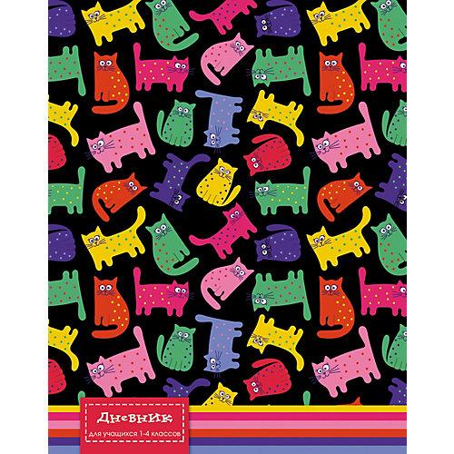 """Дневник для младших классов Апплика """"Цветные кошки"""", 48 листов от АппликА"""