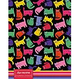 """Дневник для младших классов Апплика """"Цветные кошки"""", 48 листов"""