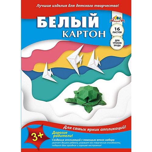 """Белый картон Апплика """"Черепашка"""", А4, 16 листов от АппликА"""