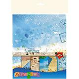 """Цветная бумага для скрапбукинга Апплика """"Отпуск"""", 15х15 см, 6 листов"""