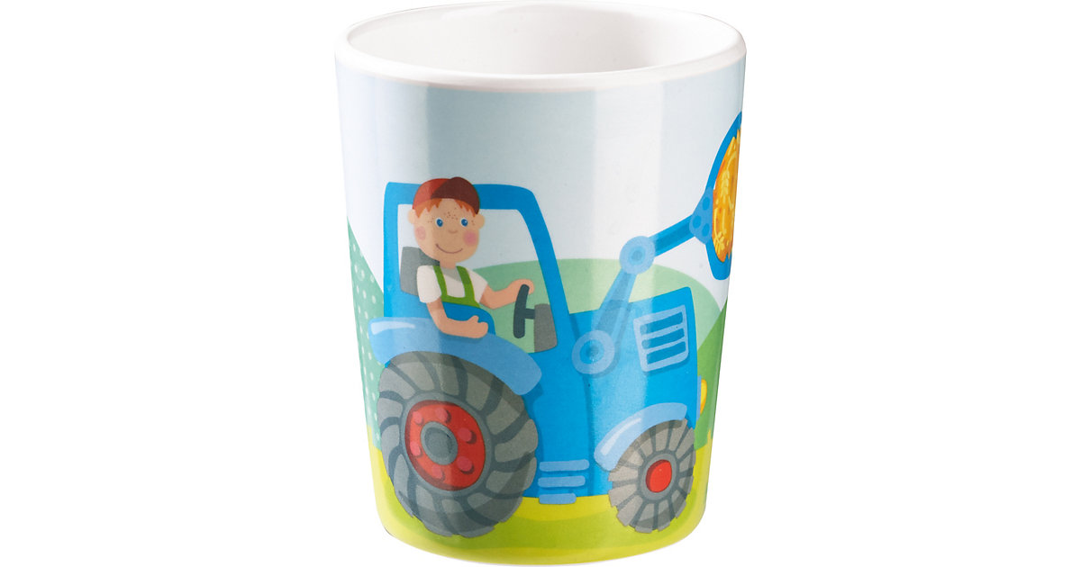 Trinkbecher Traktor bunt