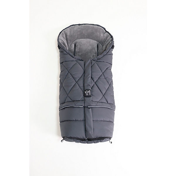 MOONY 2in1, Thermo Universal Kinderwagen Fußsack, anthracite