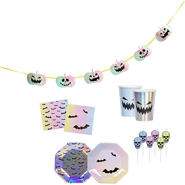 Partyset Halloween Creep Pastel, 35-tlg.