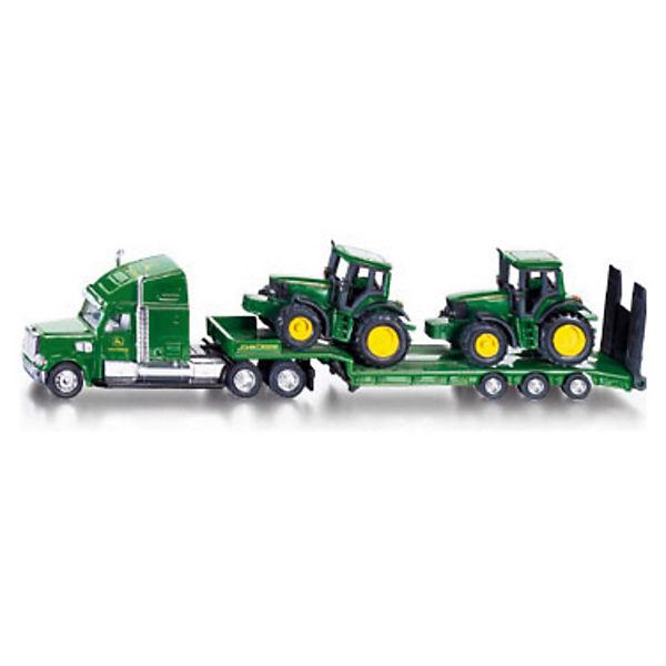 SIKU 1837 Tieflader mit 2 John Deere Traktoren  1:87, John Deere