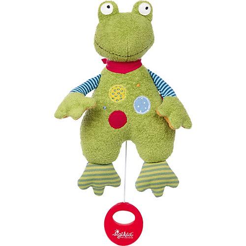 Музыкальная Мягкая игрушка Sigikid, Лягушенок Флек, 22 см от Sigikid