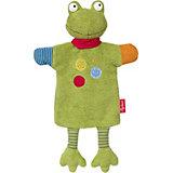 Мягконабивная игрушка Sigikid, комфортер игрушка на руку Лягушенок Флек, 35 см