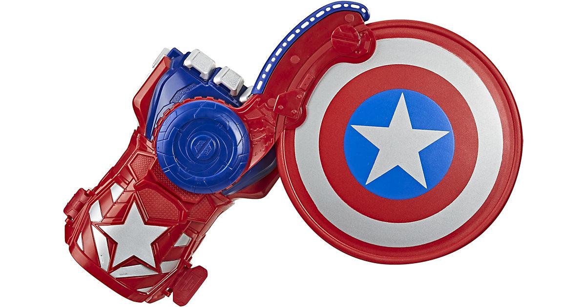 NERF Power Moves Marvel Avengers Captain America Schild Attacke, NERF Disc-Abschuss, Rollenspiel, Spielzeug Kinder ab 5 Jahren mehrfarbig  Kinder