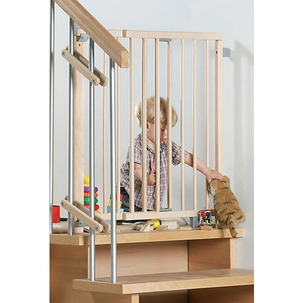 schwenk treppenschutzgitter 99 5 140 cm natur geuther. Black Bedroom Furniture Sets. Home Design Ideas