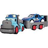 Машинка Dickie Toys Трейлер Happy с прицепом свет, звук, 60 см