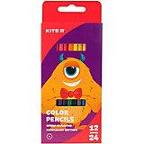 Двухсторонние цветные карандаши Kite Jolliers, 24 цвета