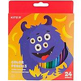 Цветные карандаши Kite Jolliers, 24 цвета