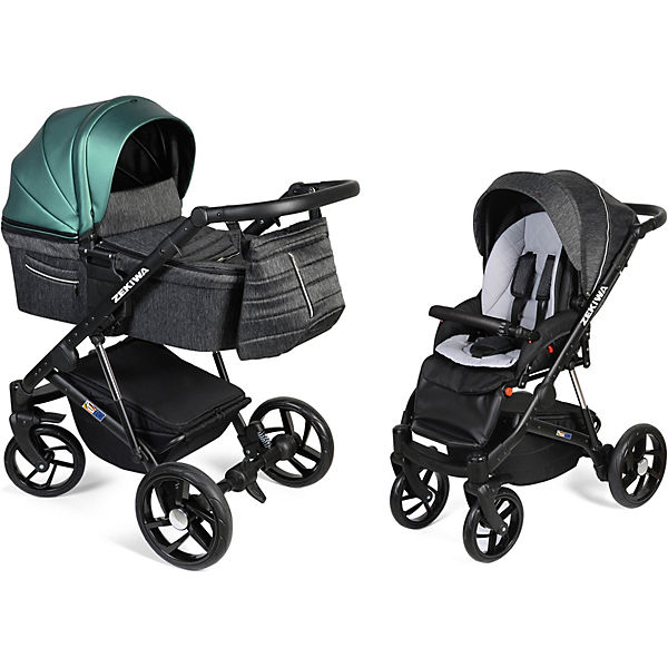 Kombi Kinderwagen Brilliant, 2 in1, Green/Graphit