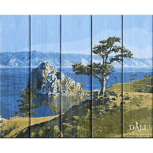"""Набор для раскрашивания по номерам по дереву Dali """"Байкальская жемчужина"""" от Dali"""