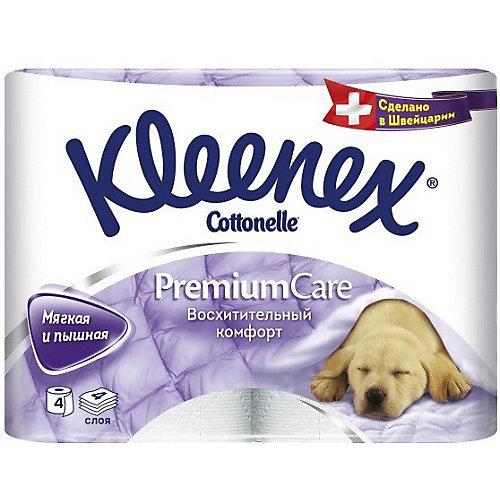 Туалетная бумага Kleenex Premium Care 4 слоя, 4 шт - разноцветный от Kleenex