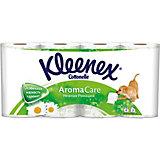 Туалетная бумага Kleenex Нежная ромашка 3 слоя, 8 шт