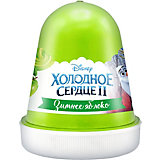 """Флаффи слайм Kiki Холодное Сердце 2 """"Зимнее яблоко"""" зеленый 120мл"""