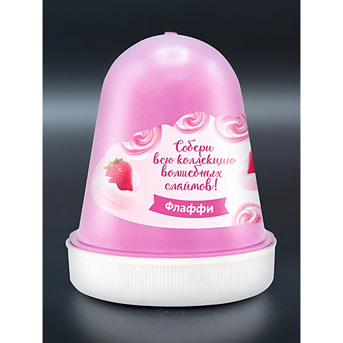 """Флаффи слайм Kiki Холодное Сердце 2 """"Волшебная клубника со сливками"""" розовый 120мл от KiKi"""