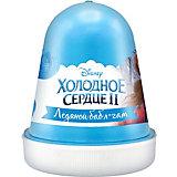 """Флаффи слайм Kiki Холодное Сердце 2 """"Ледяной бабл-гам"""" голубой 120мл"""