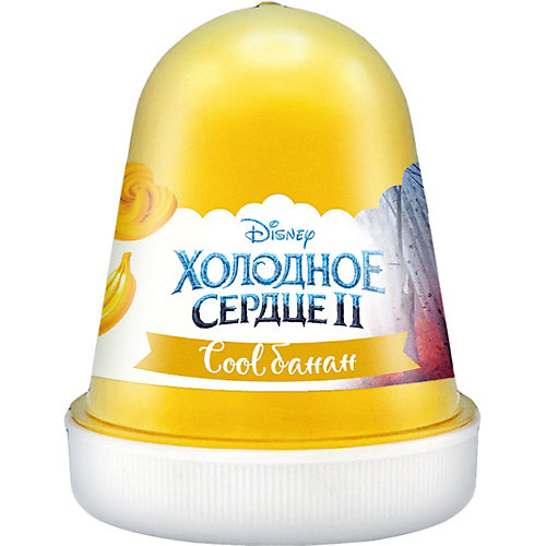 "Флаффи слайм Kiki Холодное Сердце 2 ""Cool банан "" желтый 120мл от KiKi"