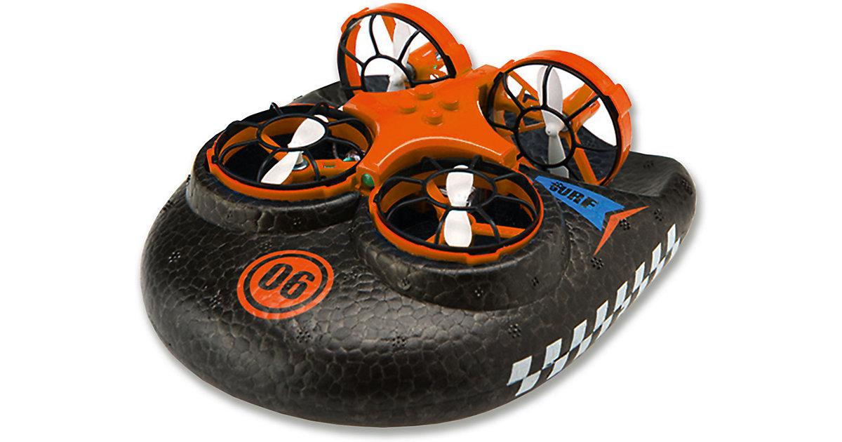 Trix - 3 in1  Hovercraft Drohne, orange. Für Wasser - Land - Luft