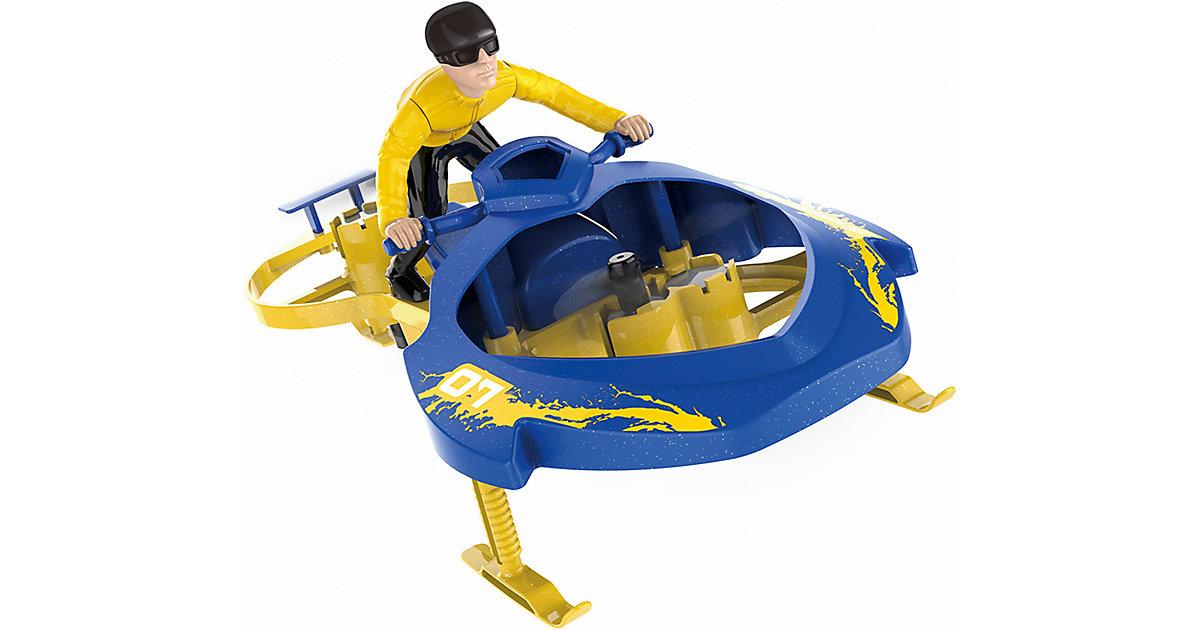 Extreme Air Cycle Drohne mit Kontrollarmband 2,4GHz, RTF blau/gelb
