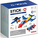 Магнитный конструктор Stick-O City Set, 902003