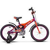 Детский велосипед Stels Jet 18 (Z010) фиолетовый/оранжевый