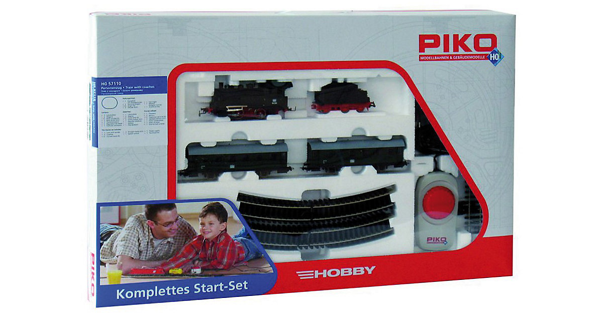 PIKO Spur H0 Start-Set Personenzug mit Dampflok