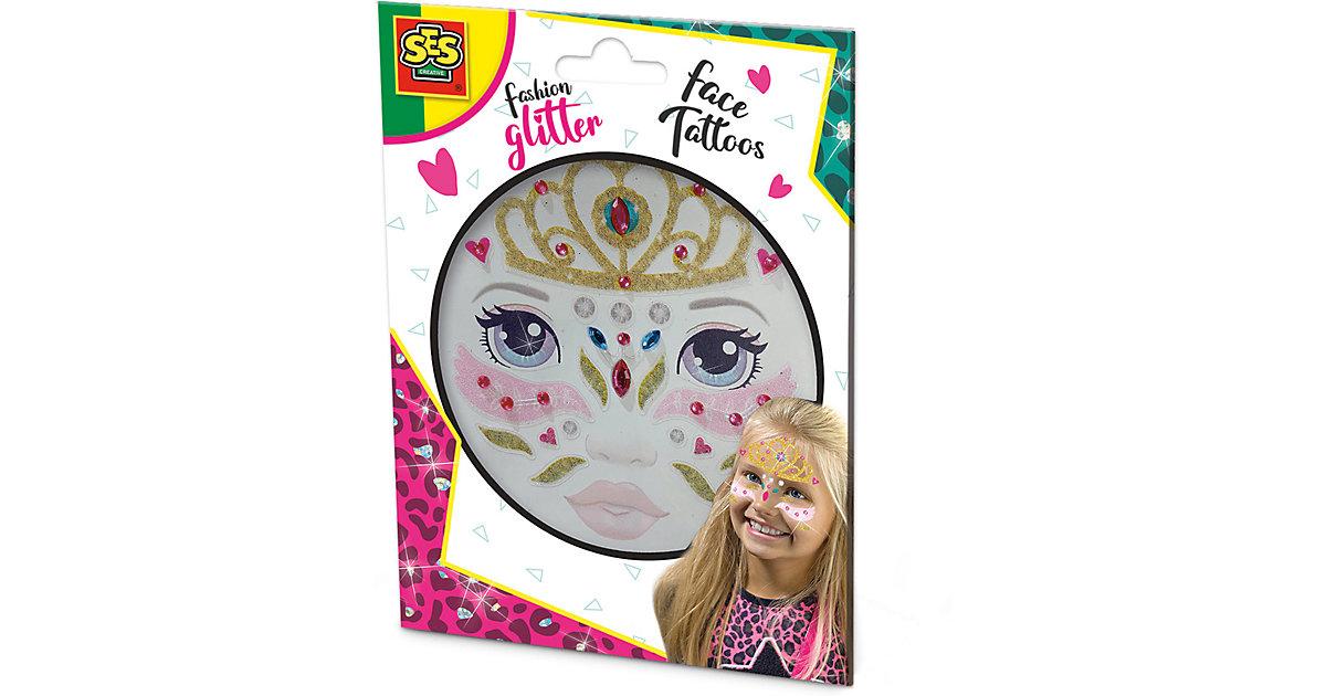 Glitter Gesicht Tattoos - Prinzessin