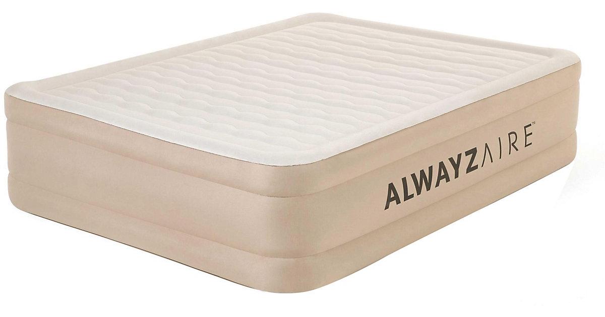 AlwayzAire™ Advanced Luftbett mit integrierter Elektropumpe Double XL/Hi 203 x 152 x 51 cm beige   Schlafzimmer > Betten > Luftbetten   Bestway