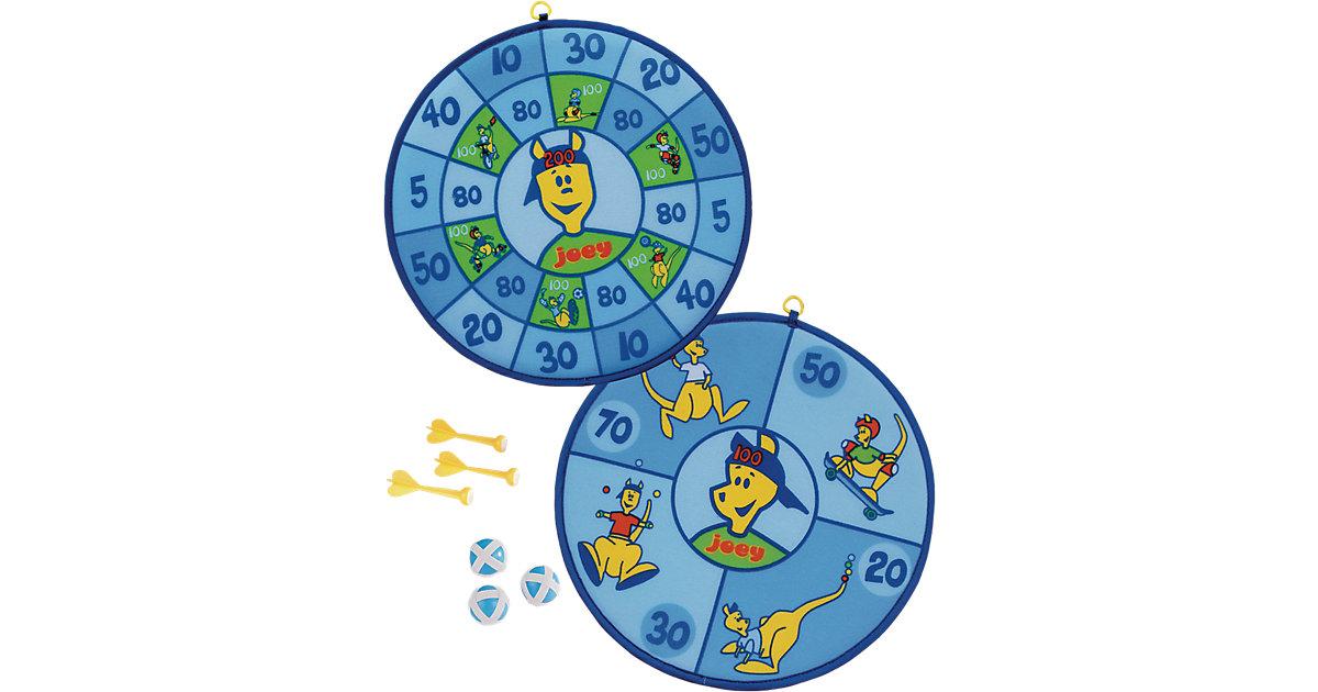 joey Kinderwurfscheibe, Klettdartboard blau