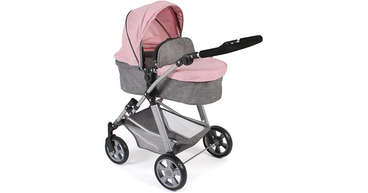 """Kombi-Puppenwagen """"NELE"""" rosa/grau"""