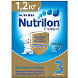 Детское молочко Nutrilon Premium 3, с 12 мес, 1200 г