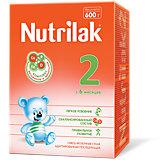 Молочная смесь Nutrilak 2, с 6 мес, 600 г