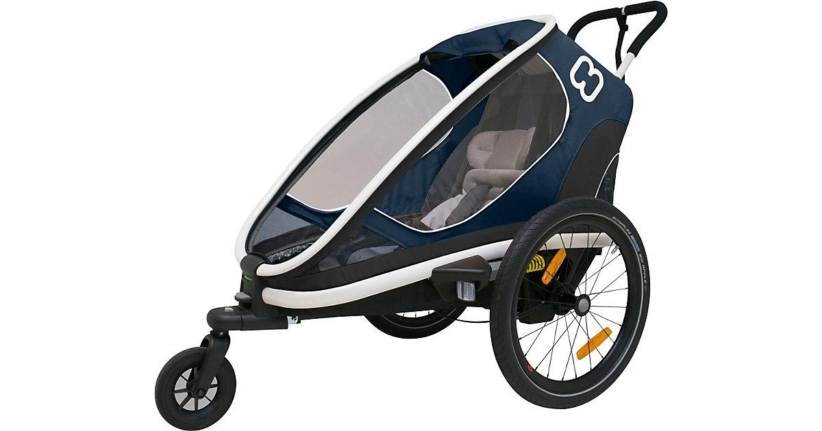 Fahrradanhänger OUTBACK ONE  (incl. bicycle arm & stroller wheel)reclining dunkelblau