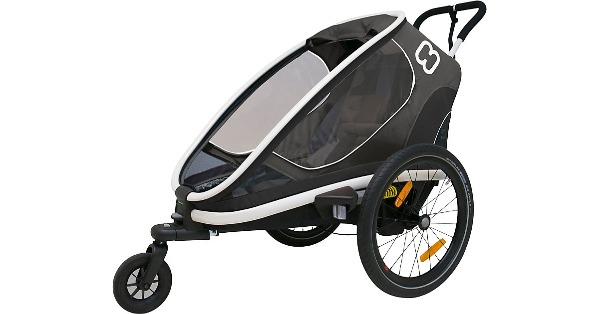 Fahrradanhänger OUTBACK ONE  (incl. bicycle arm & stroller wheel)reclining grau