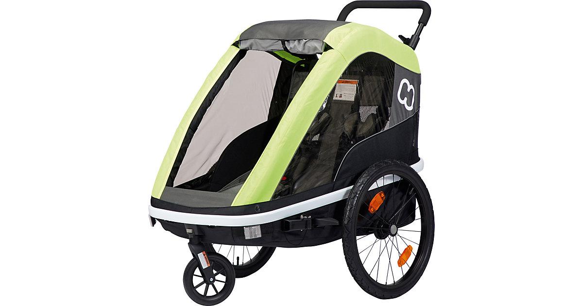 Fahrradanhänger AVENIDA (incl. bicycle arm & stroller wheel) lime