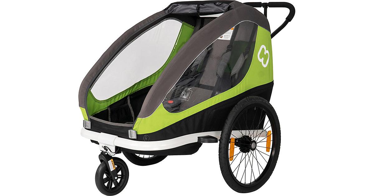Fahrradanhänger TRAVELLER (incl. bicycle arm & stroller wheel) grün/grau