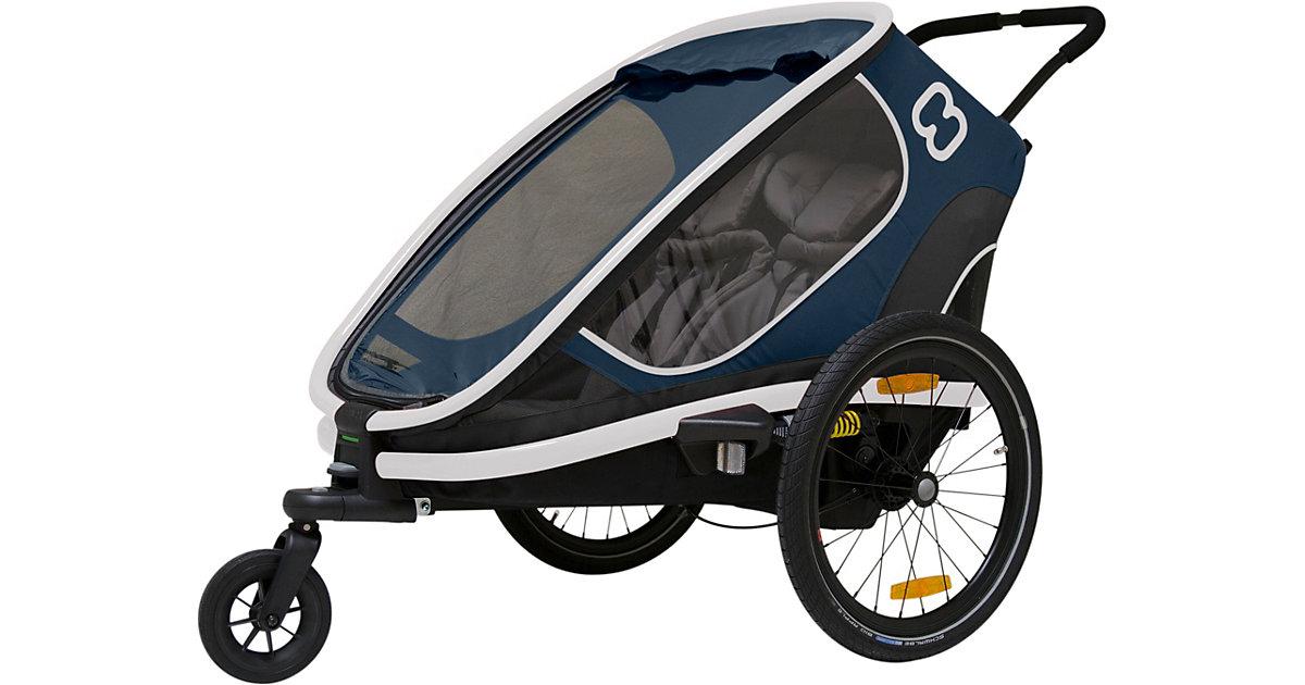 Fahrradanhänger OUTBACK (incl. bicycle arm & stroller wheel) reclining dunkelblau