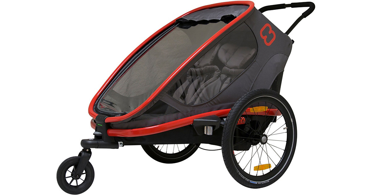 Fahrradanhänger OUTBACK (incl. bicycle arm & stroller wheel) reclining rot