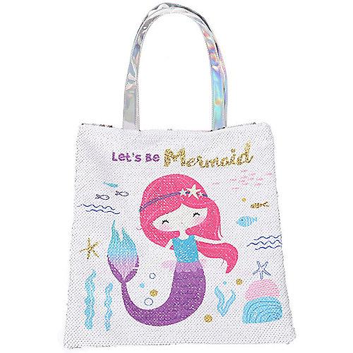 Сумка Mihi-Mihi Русалка lets be mermaid, с пайетками - белый от Mihi-Mihi