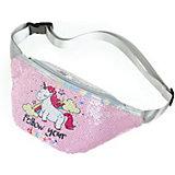 Поясная сумка Mihi-Mihi Единорог follow your dreams, с пайетками