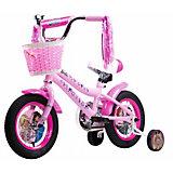 """Двухколёсный велосипед 1Toy Barbie 12"""""""