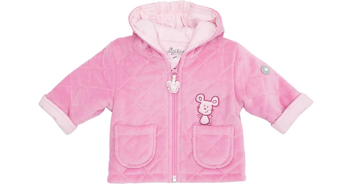 Baby wattierte Nickijacke mit Kapuze  rosa Gr. 62 Mädchen Baby