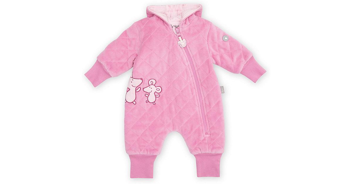 Baby wattierter Nickioverall mit Kapuze Mädchen rosa Gr. 50  Baby