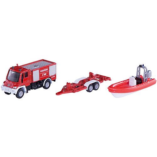 SIKU 1636 Пожарная машина Unimog с катером 1:87 от SIKU