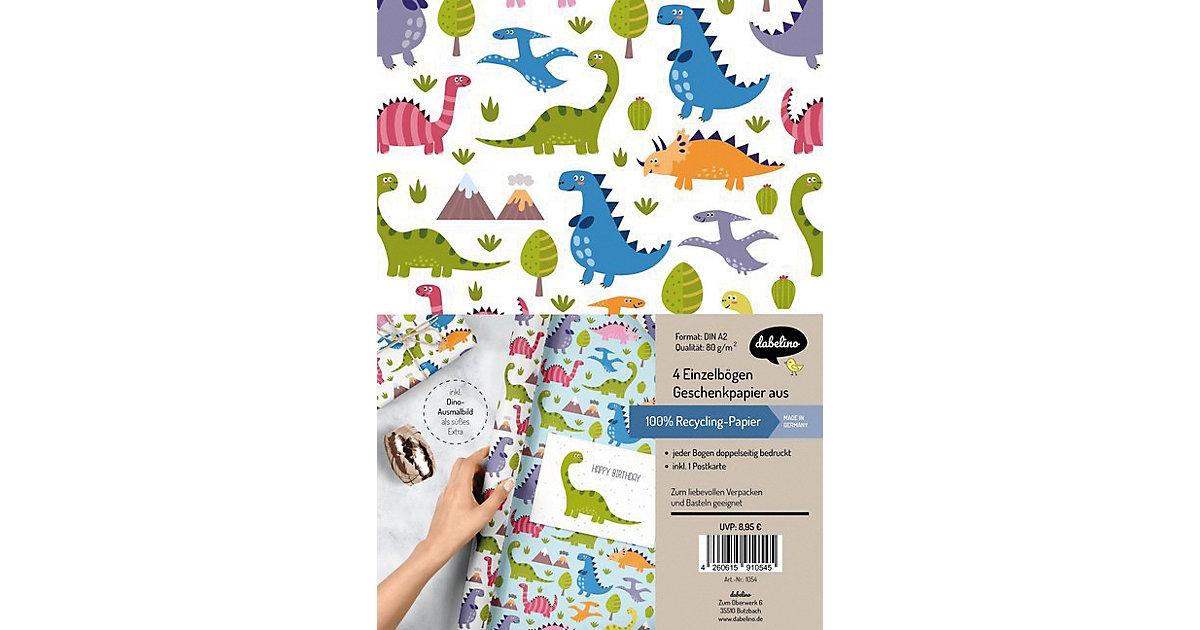 Geschenkpapier-Set: Dinosaurier
