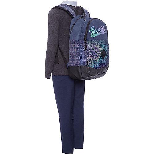 Рюкзак светоотражающий Seventeen, 43х30х17 см - черный джинсовый от Seventeen