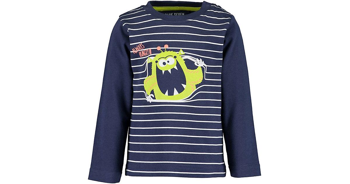 Baby Langarmshirt , Organic Cotton dunkelblau Gr. 68 Jungen Baby